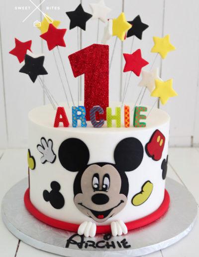 1st birthday mickey mouse stars disney cake