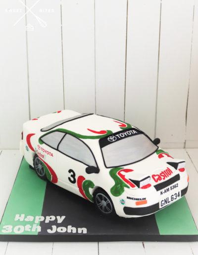 race car toyota 3d castrol cake