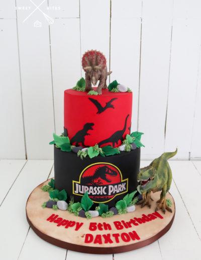 jurassic world park dinosaur cake t-rex