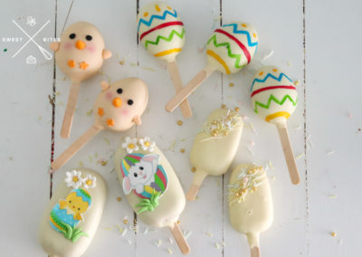 easter chick egg bunny painted cake pops