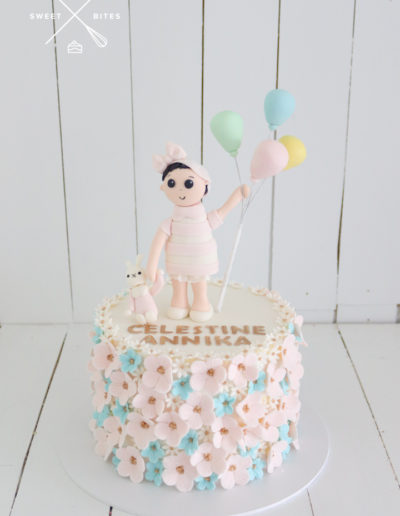 blosson flower cake balloons toddler with toy