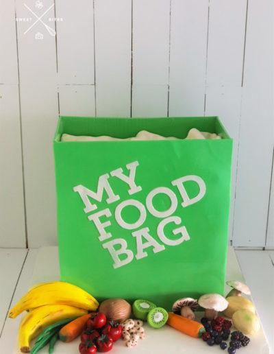 my food bag cake fruit vegetables