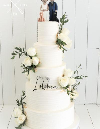 pets cat dog wedding topper linear 5 tier cake