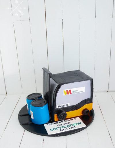 waste management cake forklift