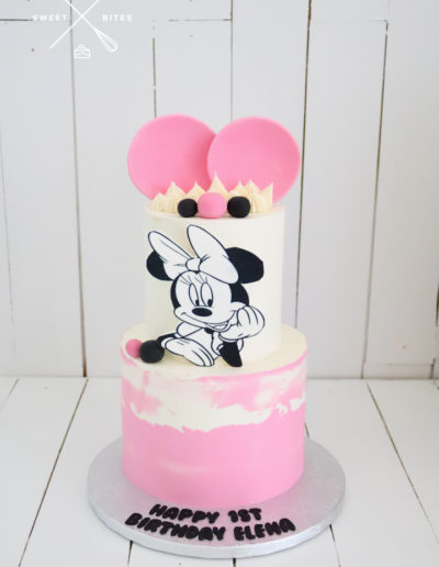 minnie mouse cake pink 1st birthday