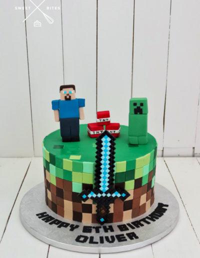 minecraft cake sword
