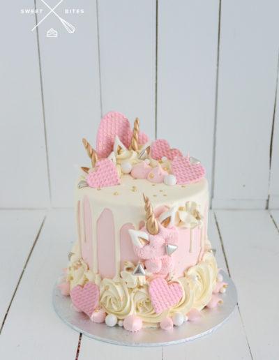 unicorn cake pink cute drip