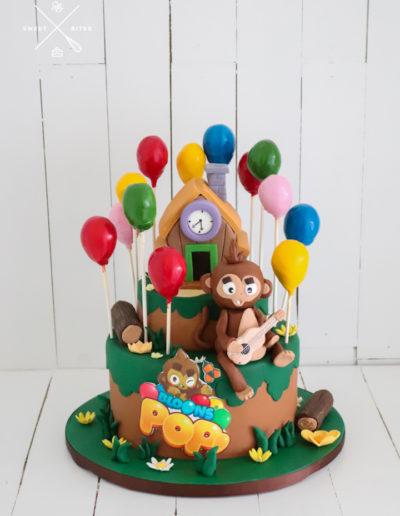 bloons pop monkey game kiwi ninja cake