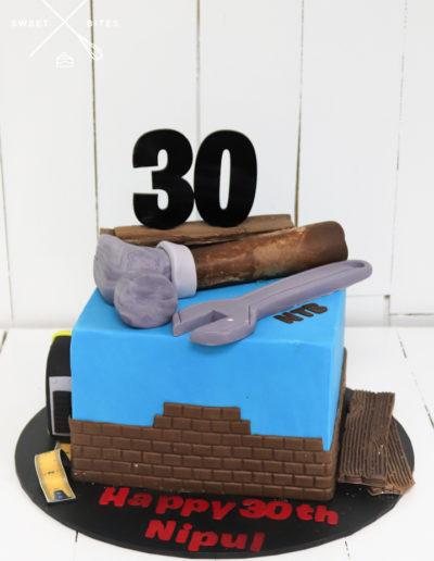 tools cake builder hammer spanner trade