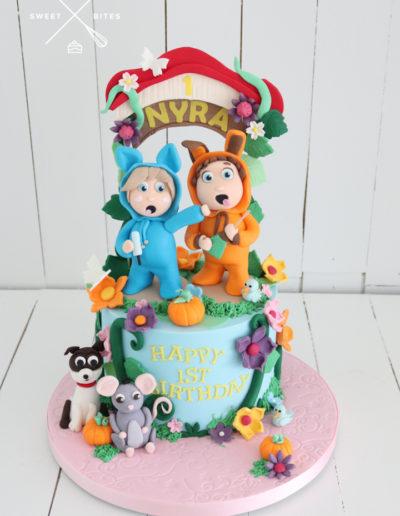 1st birthday dave and ava cake nursery rhymes