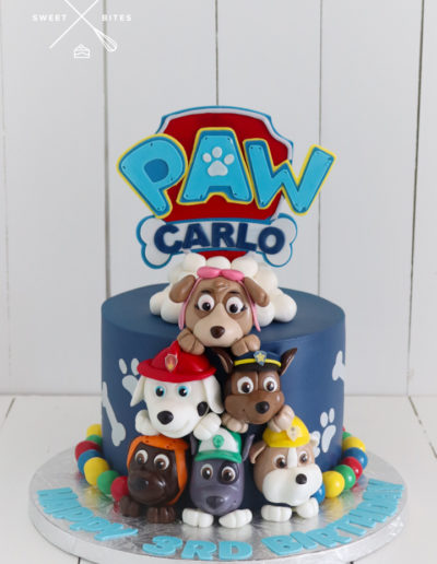 paw patrol cake characters