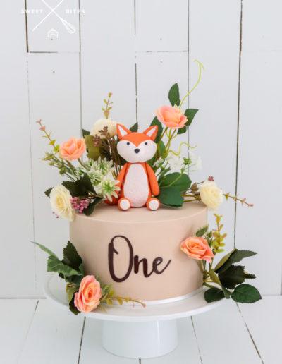 boho cake fox one wild 1st birthday