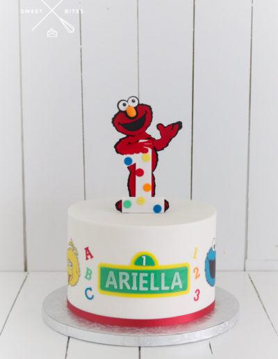 elmo cake sesame street big bird cookie monster 1st birthday