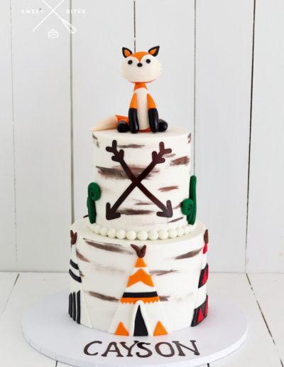 teepee fox cake native wild cake