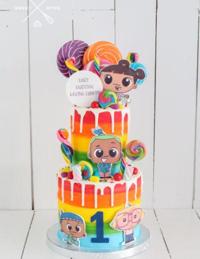 pipi ma cake maori rainbow candy overload 1st birthday