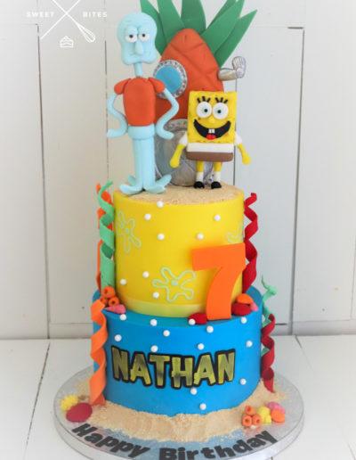 spongebob squarepants squidward cake