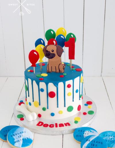 dog balloon drip cake spot