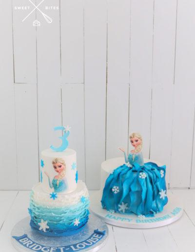 frozen elsa cake ruffles