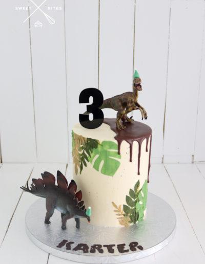 leaf stencil dino cake dinosaur toys