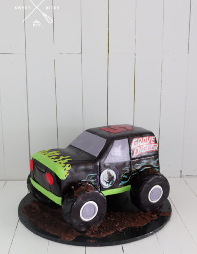 3d carved monster truck cake