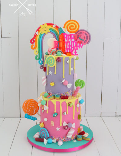 2 tier rainbow candy lolly overload trolls