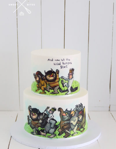 where the wild things are 2 tier cake gruffalo