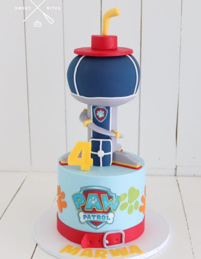 paw patrol tower the lookout cake